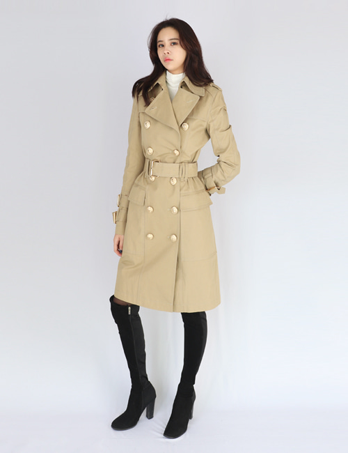 B. GOLDBUTTON TRENCHCOAT