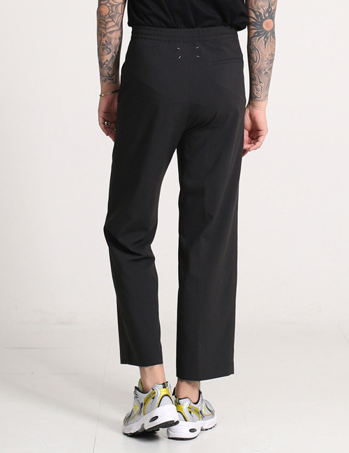 M. DROWSTRING STRAIGHT WIDE PANTS