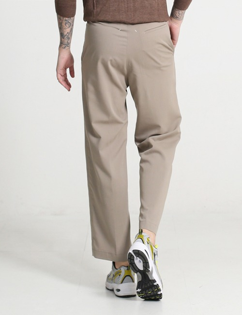 M. DROWSTRING STRAIGHT WIDE PANTS_BEIGE