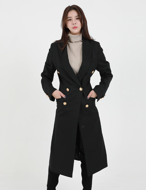 C. GOLDBUTTON WOOL COAT