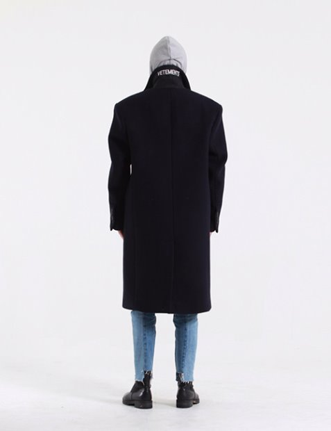 V. WOOL DOUBLEBREASTED COAT_NAVY
