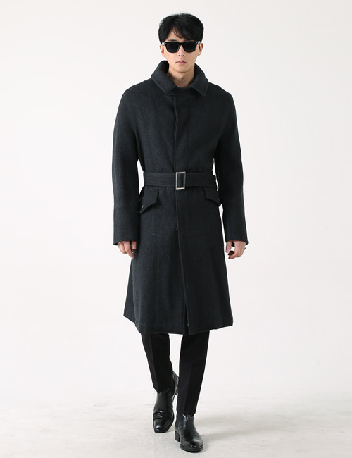 L. WINTER WOOL TRENCHCOAT