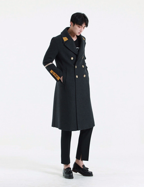 G. WOOL DOUBLEBREASTED COAT_CHACOLE_M