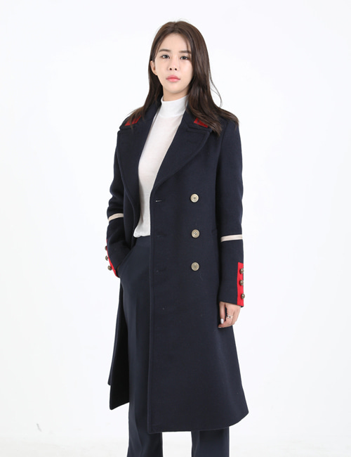 G. WOOL DOUBLEBREASTED COAT_NAVY_W
