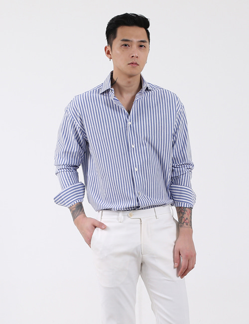 T. WIDEKARA STRIPE SHIRTS