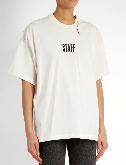 V. STAFF SHIRRING ROUND T-SHIRTS_2COLOR