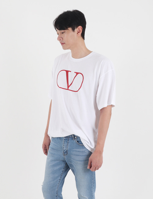 V. BIG LOGO ROUND T_SHIRTS_2COLOR_M