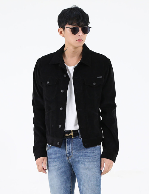 T. STRETCH COTTON CORDUROY JACKET_BLACK