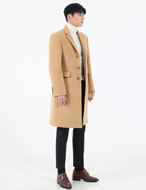 B. SINGLE BREASTED TAILORED COAT_BEIGE