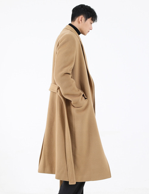 B. OVERSIZE WOOL GOWN COAT_CAMEL