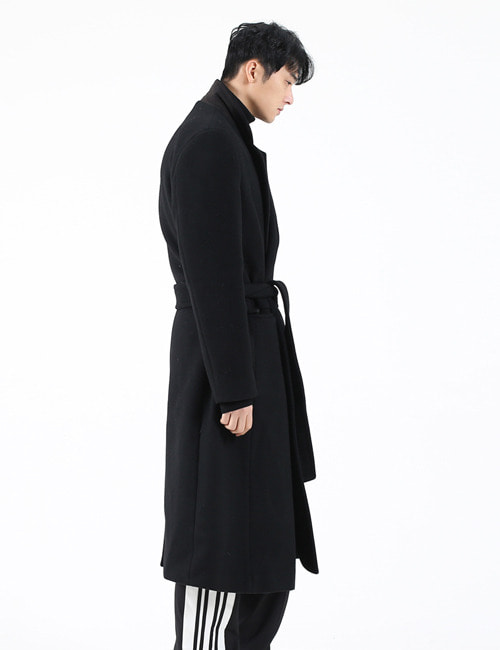 B. OVERSIZE WOOL GOWN COAT_BLACK