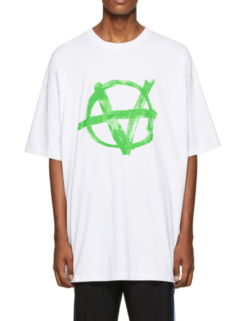 V. ANARCHY LOGO COTTON ROUND T-SHIRTS
