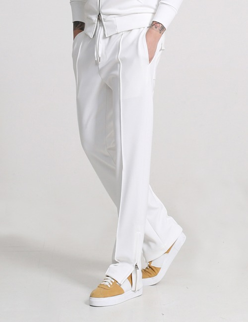T. DRAWSTRING WAIST TAILORED TROUSERS