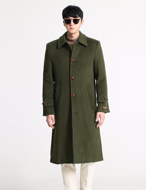 G. PLEATS SINGLE WOOL BREASTED COAT